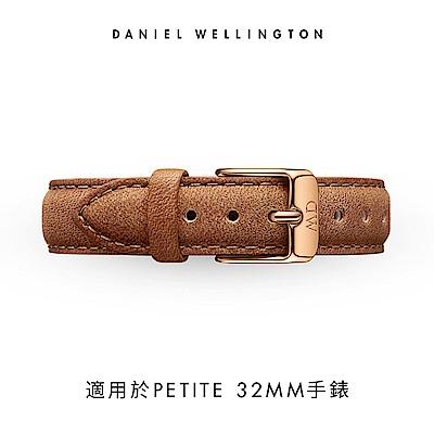 DW 錶帶 14mm金扣 淺棕真皮皮革錶帶