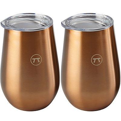 《FOXRUN》Outset附蓋銅色雙層不鏽鋼杯2入(350ml)