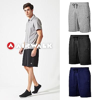 [時時樂限定] AIRWALK 運動棉質短褲-男-共三色