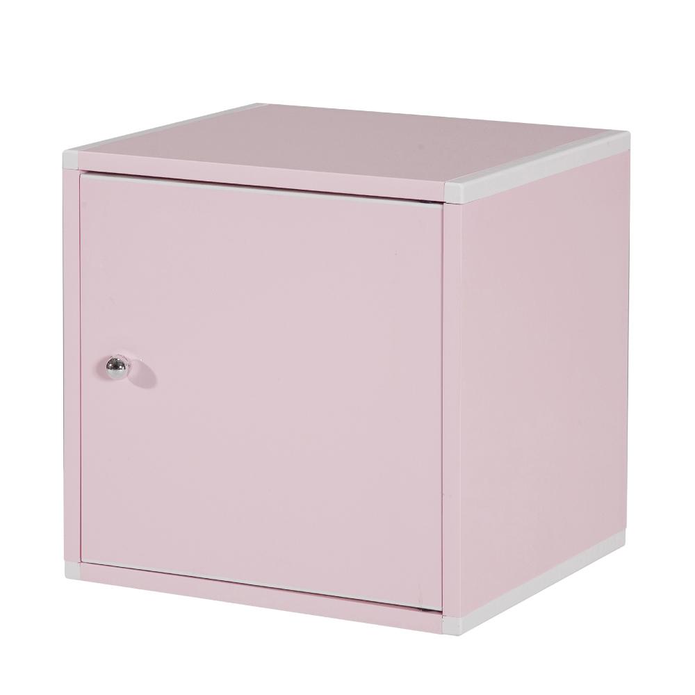 文創集 艾倫環保1.1尺塑鋼單門書櫃(四色)-34x31x35cm-免組