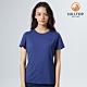 【hilltop山頂鳥】女款Polygiene抗菌吸濕快乾抗UV撞色T恤S04FJ8藍 product thumbnail 1