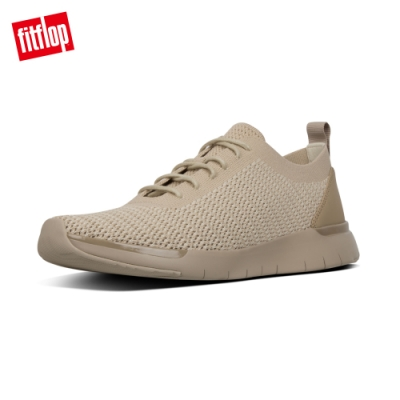 FitFlop FLEXKNIT LACE UP SNEAKERS 輕量繫帶休閒鞋-男(淺礫色)