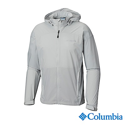 Columbia 哥倫比亞 男款-UPF50防潑水風衣-灰色 UKE00720