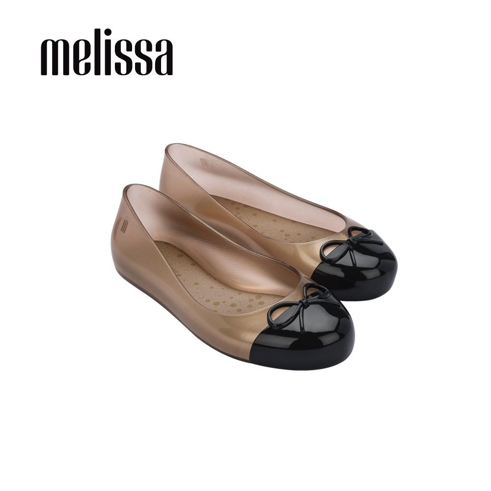MelissaSWEET LOVE撞色蝴蝶結娃娃鞋 兒童款-玫瑰金