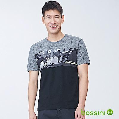 bossini男裝-短袖圓領上衣02黑