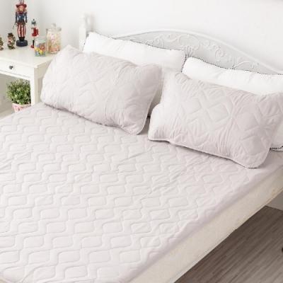 BUHO布歐 防水平單式竹炭枕頭保潔墊(2入)