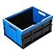 WallyFun 歐式手提折疊收納箱 35L X3入組 (藍/綠)