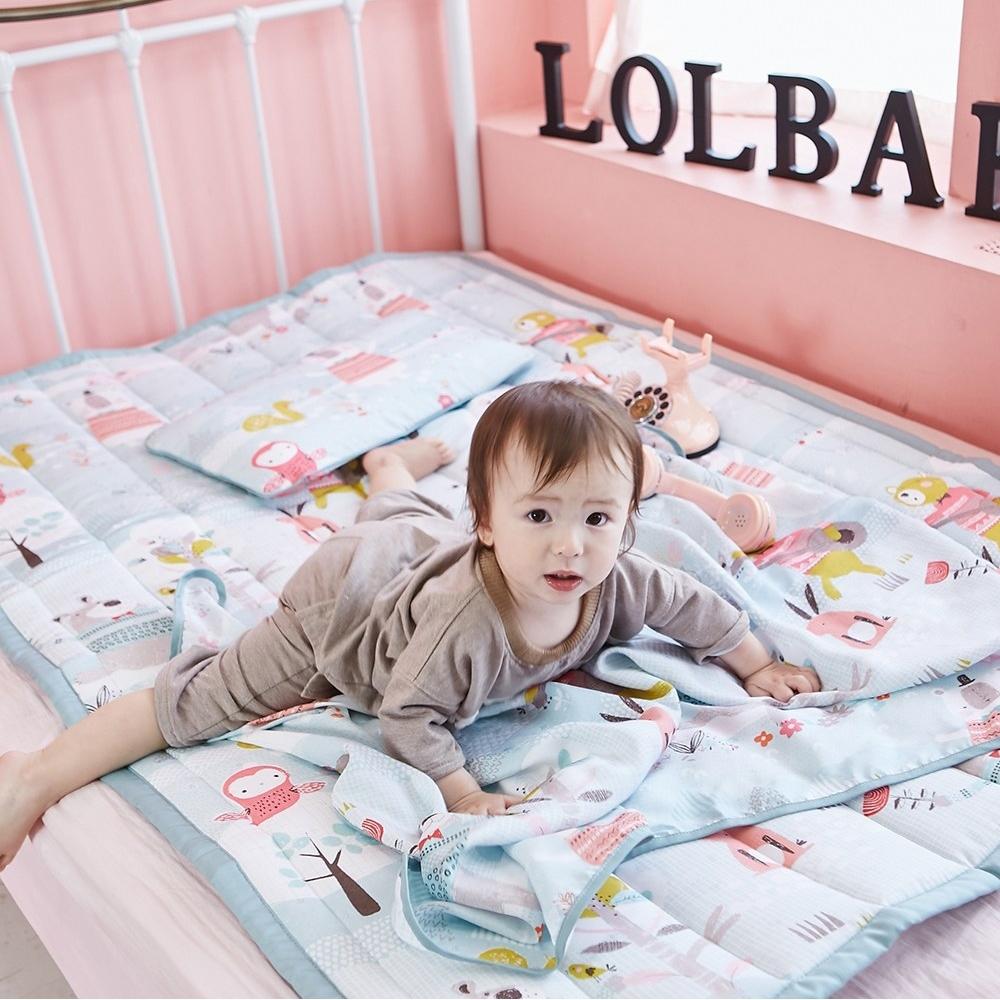 【Lolbaby】Rayon防靜電輕薄柔軟涼感嬰兒床墊-繽紛動物園