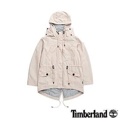Timberland 女款米白色防潑水連帽外套|B2105