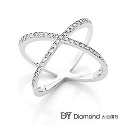 DY Diamond 大亞鑽石 18K金 時尚設計鑽石線戒