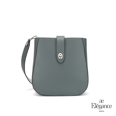 【Elegance】EUDORA 轉鎖側背包-綠色