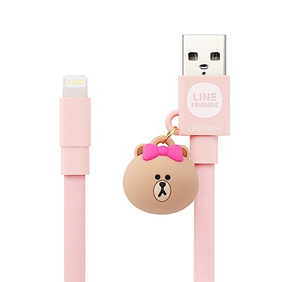 GARMMA LINE FRIENDS Apple Lightning公仔吊飾傳輸線 熊美