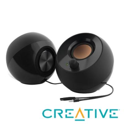CREATIVE Pebble USB 2.0 桌上型喇叭(黑/白)