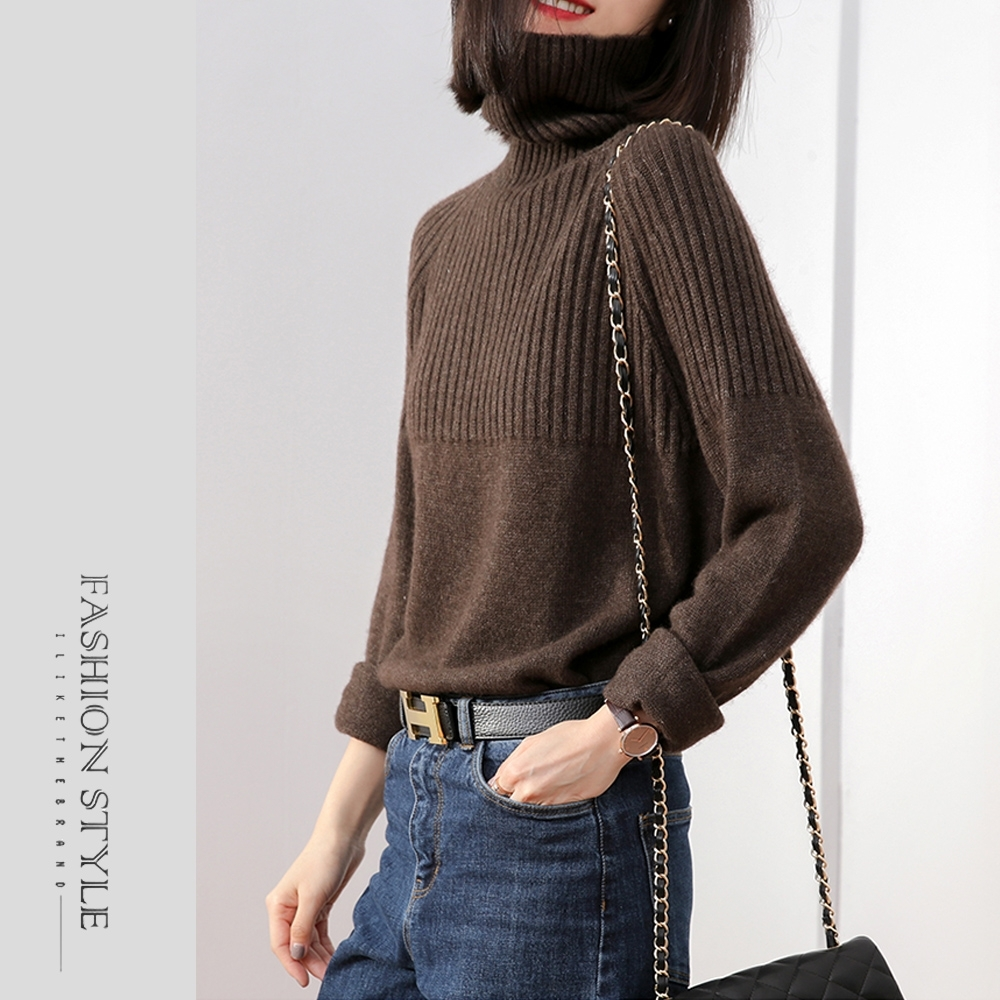 2F韓衣-簡約經典高領保暖毛衣-5色(M-XL)