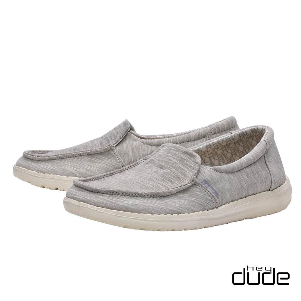 HEY DUDE(女) - 輕鬆直套親膚柔棉輕量休閒鞋 - 石沙灰