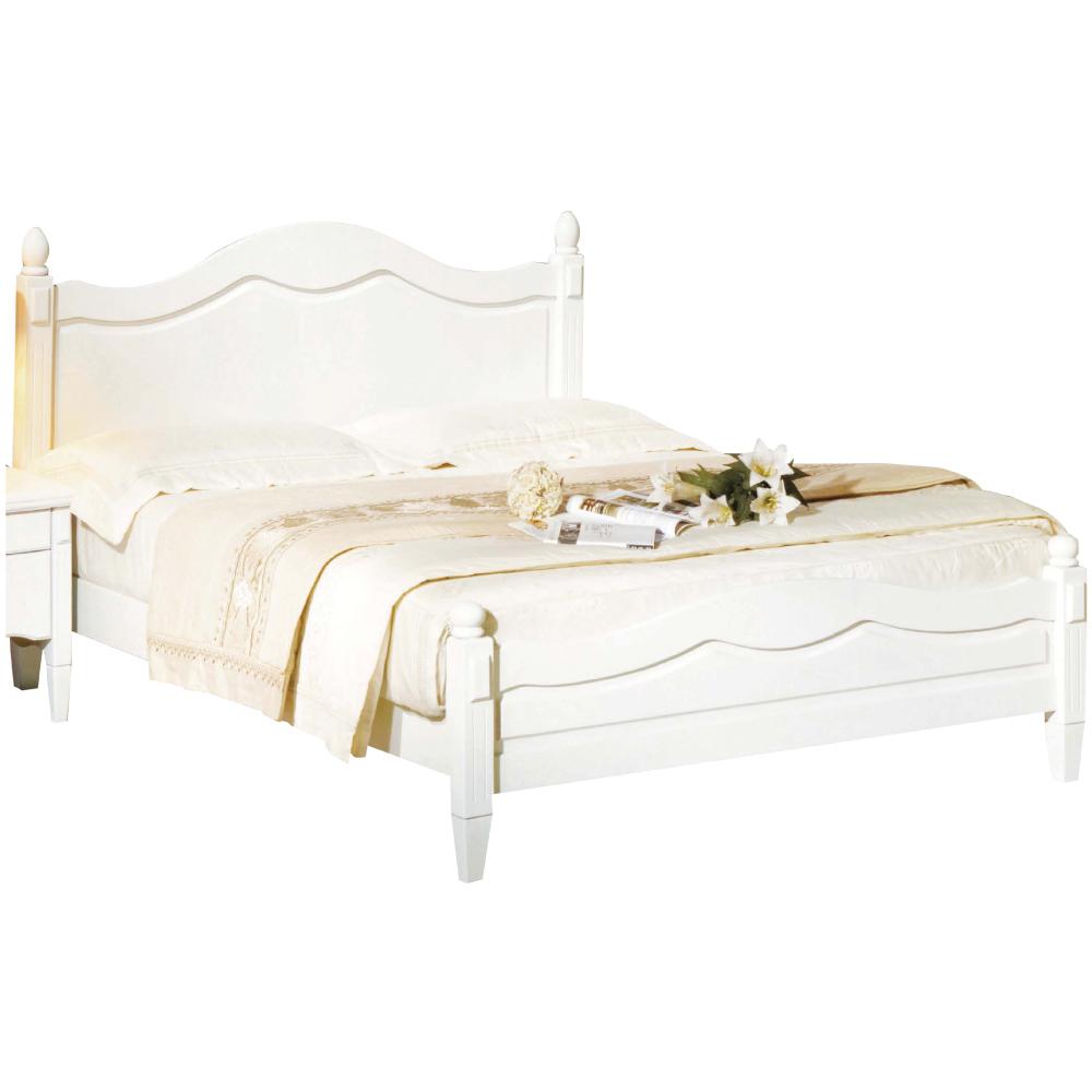 綠活居 吉卡斯法式白3.5尺實木單人床台(不含床墊)-107x204x105cm