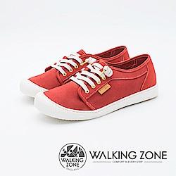 WALKING ZONE 防潑水系列百搭國民便鞋女鞋-紅(另有藍)