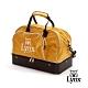 【Lynx Golf】山貓刺繡硬底式旅行外袋/運動衣物袋-橘色