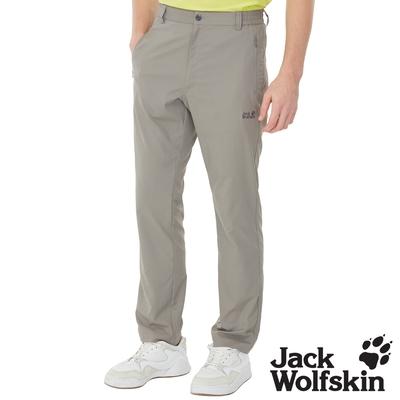 【Jack wolfskin 飛狼】男 涼感透氣排汗休閒長褲『淺灰』
