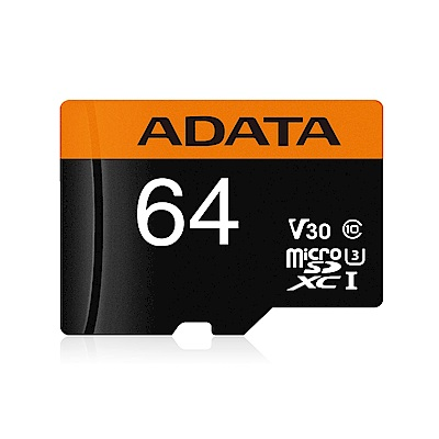 威剛 Premier Pro microSDXC UHS-I U3(V30) 64G記憶卡