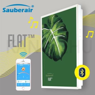 Sauberair 6-10坪 森之綠白框 藍芽喇叭空氣清淨機 FLAT-BT 台灣品牌 壁掛畫框式