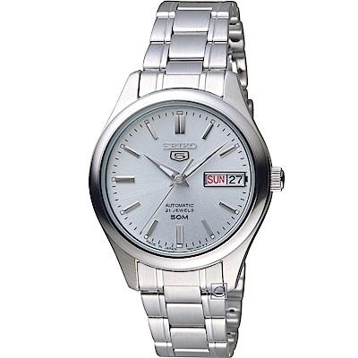 SEIKO 精工 5號機械女錶(SNK883J1)-銀白