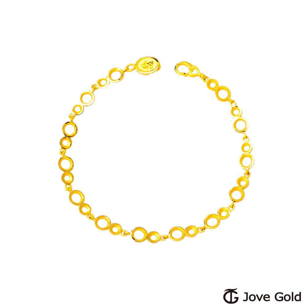 JoveGold漾金飾 戀愛氛圍黃金手鍊