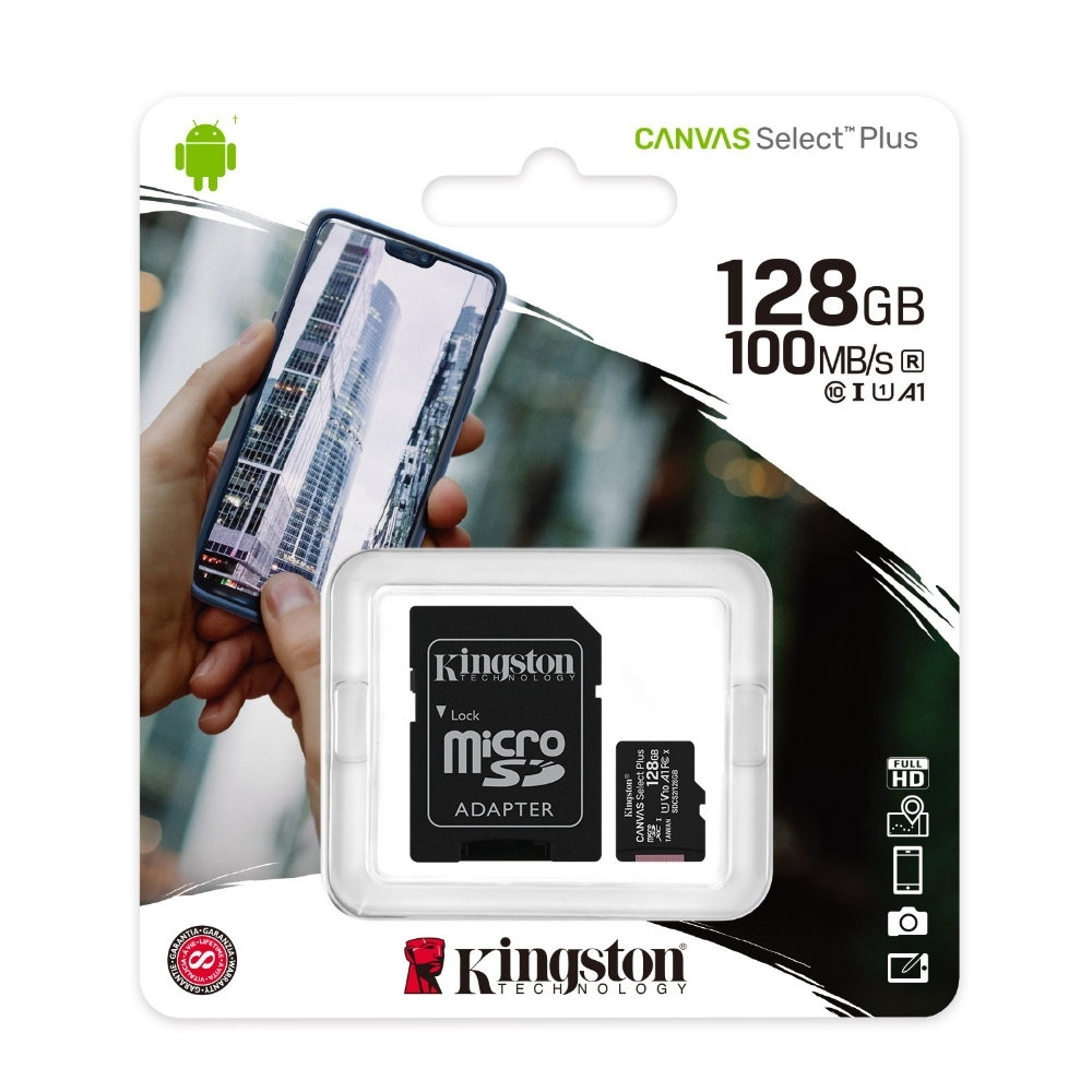 金士頓 KINGSTON SDCS2 MicroSDXC 100MB 128G U1 A1 記憶卡