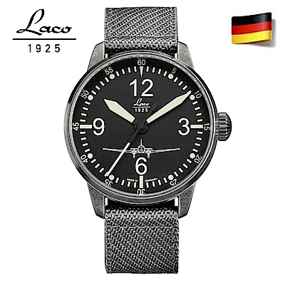 Laco 朗坤861901 德國工藝DC-3自動機械表 男錶手錶軍錶 /42mm