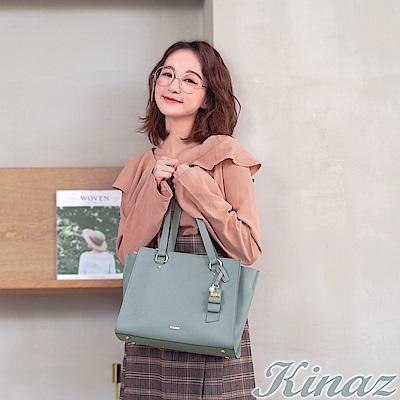 KINAZ 完美心願兩用斜背托特包-糖霜淺藍-甜蜜禮盒系列-快