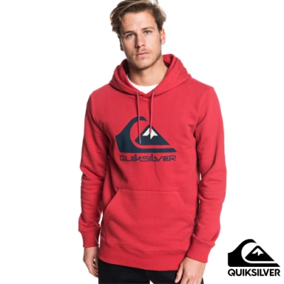 【QUIKSILVER】OMNI LOGO SCREEN FLEECE 帽T 紅
