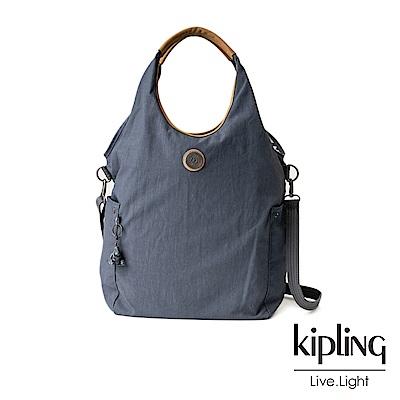 Kipling藍灰色肩背側背包-URBANA-EDGELAND系列