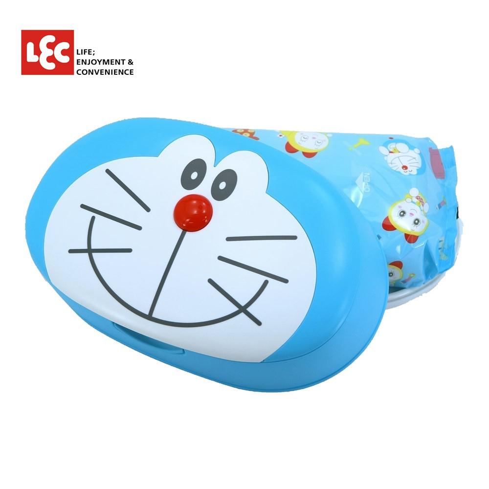 日本LEC DORAEMON小叮噹純水99.9%盒裝濕紙巾 80抽/盒