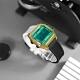 I AM 電子液晶 繽紛色彩 錶帶自由搭配 矽膠手錶-藍綠x金x黑 33mm product thumbnail 1