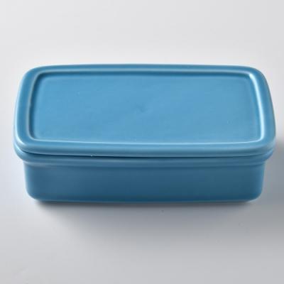 日本Tojiki Tonya 美濃下石 奶油盒 350ml 土耳其藍