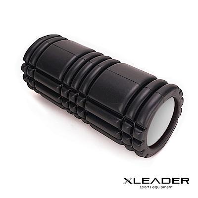 Leader X 環保EVA專業舒展塑身按摩瑜珈滾筒 滾輪 瑜珈柱 黑色 - 急速配