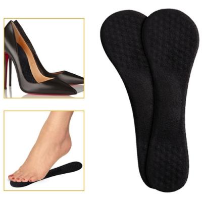JHS杰恆社abe102透明矽膠七分墊軟高跟鞋鞋墊女夏季防臭單鞋吸汗防滑涼鞋足弓減震