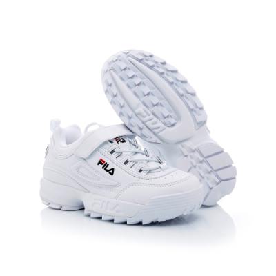 FILA KIDS 大童復古運動鞋-白 3-C645T-125