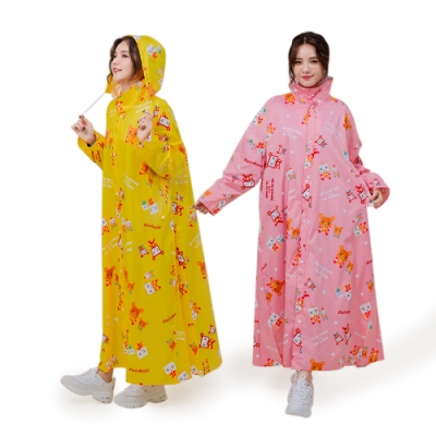 fairrain親子豆腐熊可愛前開式雨衣(成人款)