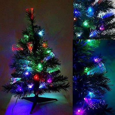 摩達客 夢幻多變2尺(60cm)彩光LED光纖聖誕樹(不含飾品配件)