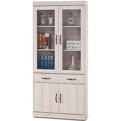 凱曼  瑪姬白栓木2.6尺中抽書櫥/書櫃