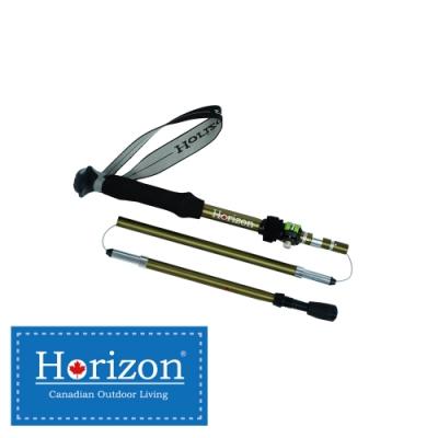 【Horizon 天際線】7075鋁合金摺疊登山杖(雍容綠) 最佳體驗款