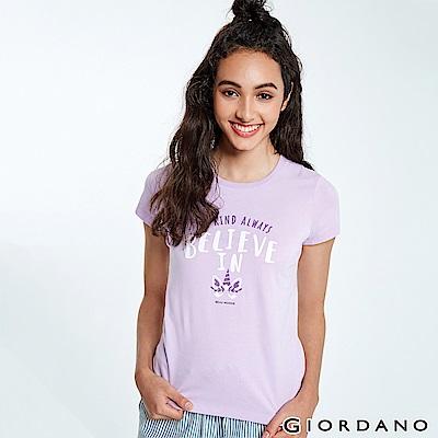 GIORDANO 女裝夢幻獨角獸系列印花T恤-22 薰衣草紫