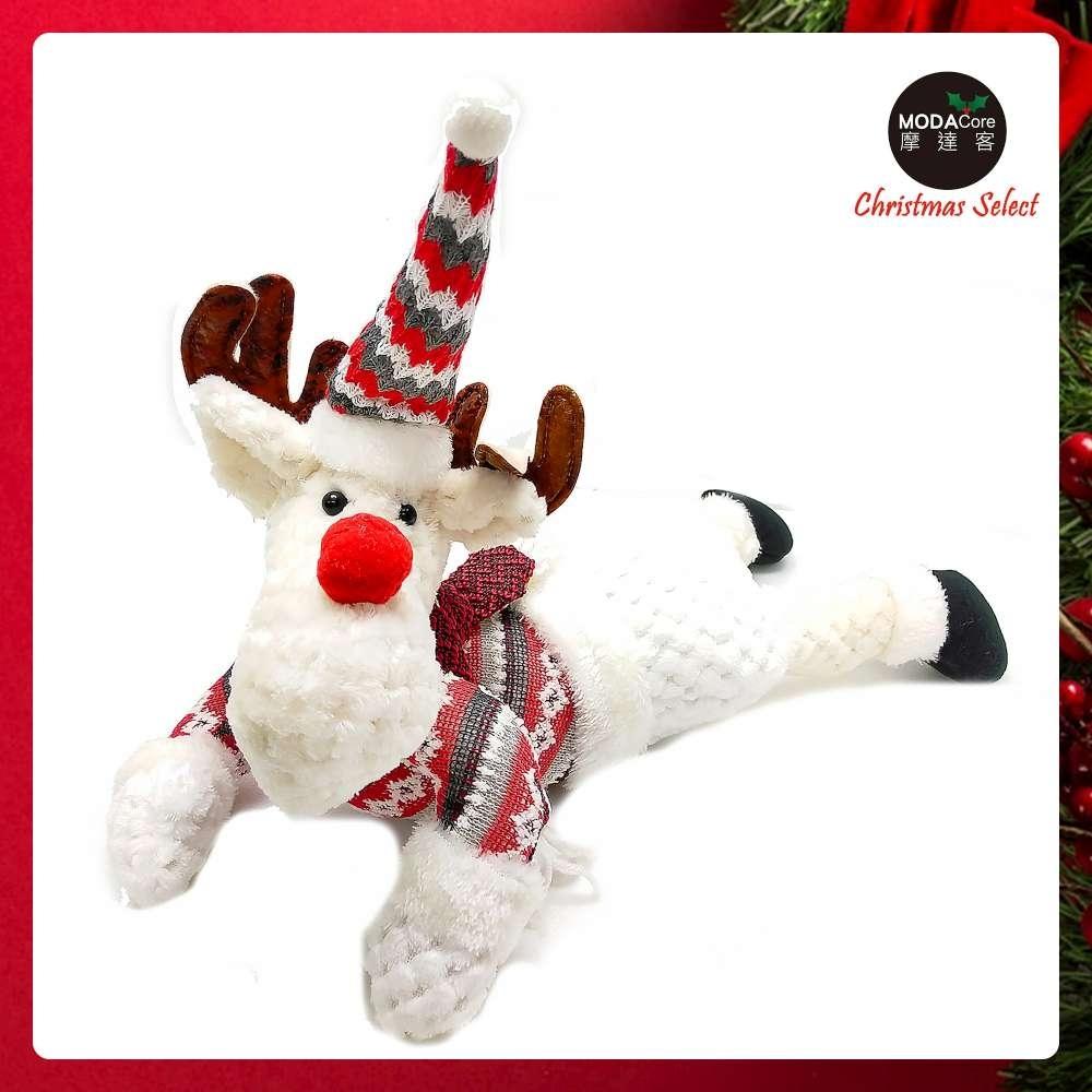 摩達客耶誕-聖誕趴趴翹臀玩偶擺飾午安枕-聖誕麋鹿-交換禮物