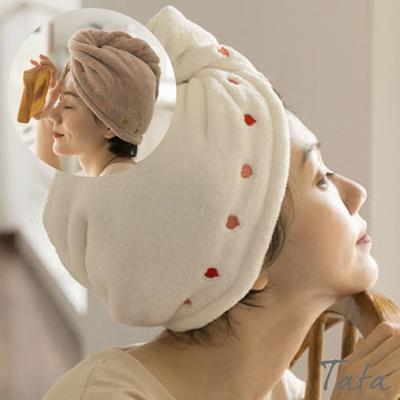 愛心刺繡吸水頭巾(二入) TATA