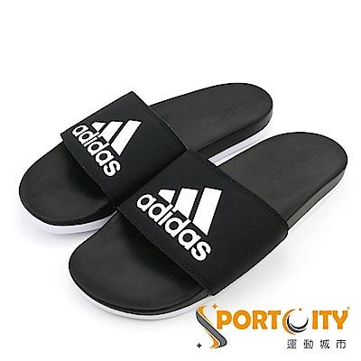 ADIDAS 男女 運動拖鞋 黑-CG3427