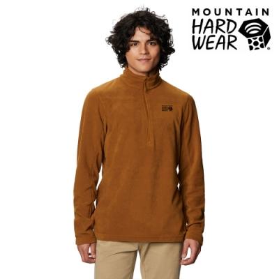 【美國 Mountain Hardwear】Microchill 2.0 Zip T-Shirt 保暖長袖排汗衣 男款 金棕 #1677261
