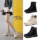 時時樂限定-T2R-正韓空運-真皮女款真皮高筒短靴-隱形增高鞋-增高7公分-多款