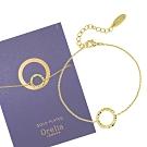 Orelia英國品牌 圓環造型金色手鍊