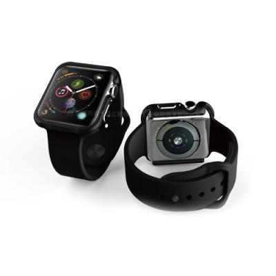 刀鋒Edge Apple Watch Series 5 44mm 鋁合金雙料保護殼 經典黑